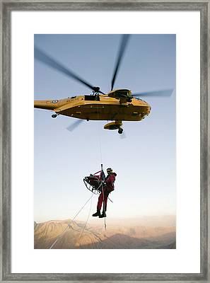 Raf Sea King Helicopter Framed Print by Ashley Cooper