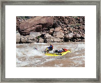 Rafting The Colorado Framed Print by Jim West