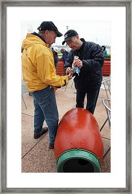 Rain Barrel Workshop Framed Print by Jim West