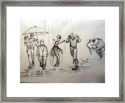 Rain Framed Print by H James Hoff