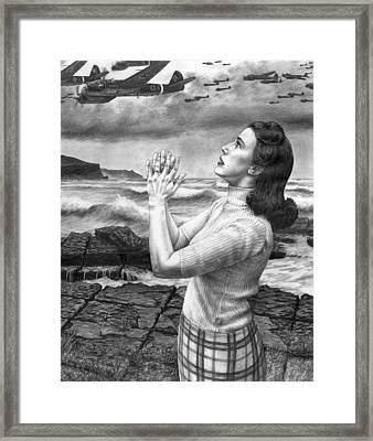 Rain Framed Print by Mark Zelmer