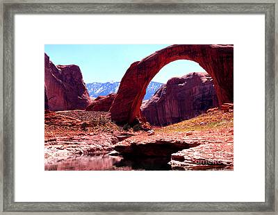 Rainbow Bridge National Monument Framed Print by Thomas R Fletcher