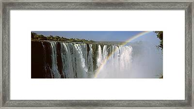 Rainbow Over Victoria Falls, Zimbabwe Framed Print by Panoramic Images