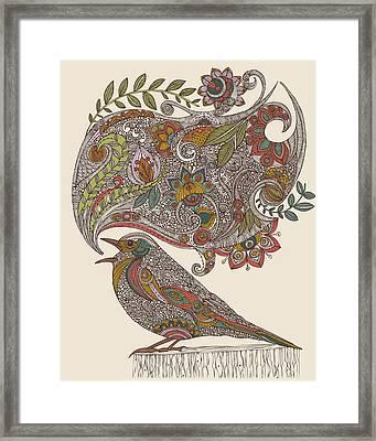 Random Talking Framed Print by Valentina Ramos