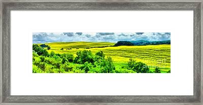Rape Field Paint Framed Print by Odon Czintos