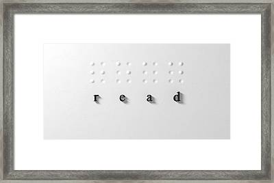 Read Framed Print by Allan Swart