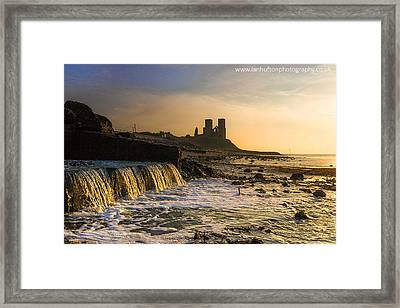 Reculver Sunset Framed Print by Ian Hufton