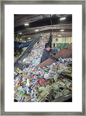 Recycling Plant Framed Print by Jim West