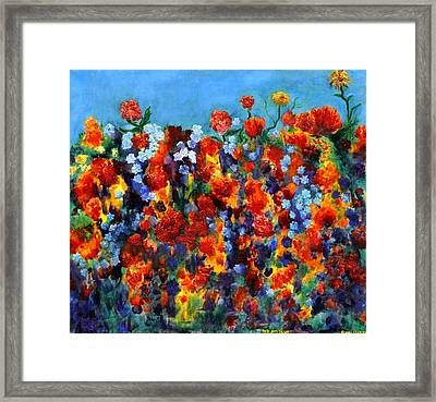 Red And Blue Framed Print by Regina Valluzzi
