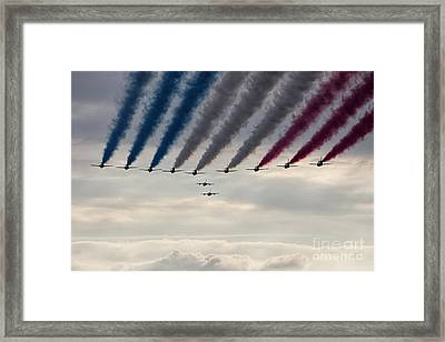 Red Arrows And Gnats Framed Print by J Biggadike