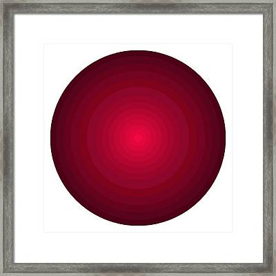 Red Circles Framed Print by Frank Tschakert