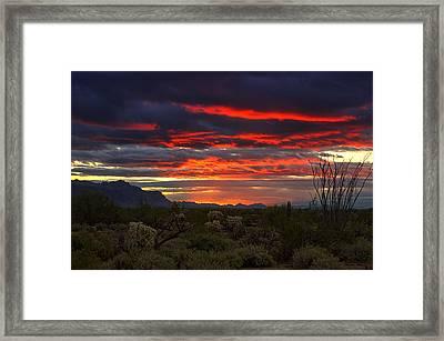 Red Hot Sunrise  Framed Print by Saija  Lehtonen