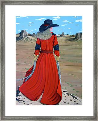 Red Framed Print by Lance Headlee