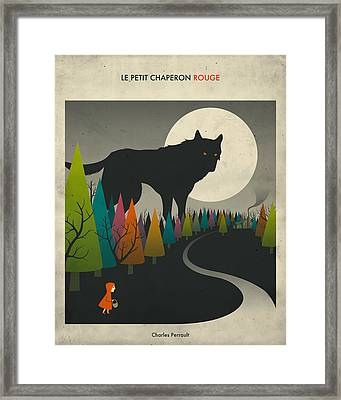 Red Riding Hood  Framed Print by Jazzberry Blue