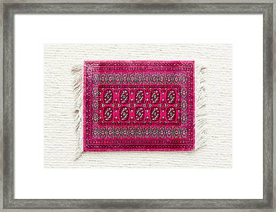 Red Rug Framed Print by Tom Gowanlock