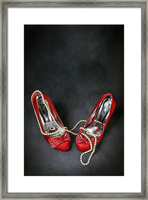 Red Shoes Framed Print by Joana Kruse