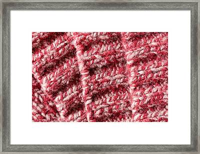 Red Wool Framed Print by Tom Gowanlock