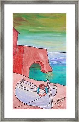 The White Boat. Framed Print by Loredana Messina