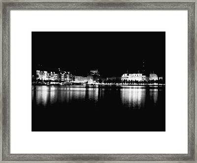 Reflections Of Hamburg Framed Print by Mountain Dreams