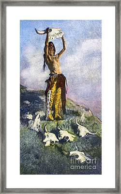 Remington: Buffalo, 1892 Framed Print by Granger