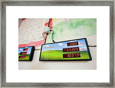 Renewable Energy Readouts Framed Print by Ashley Cooper