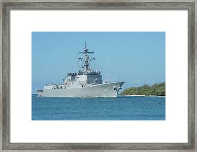 Republic Of Korea Navy Guided-missile Framed Print by Stocktrek Images