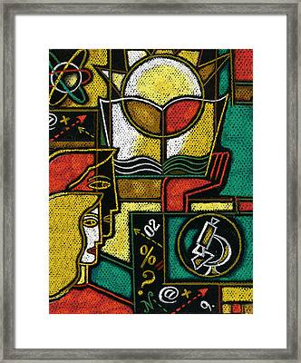 Research Framed Print by Leon Zernitsky