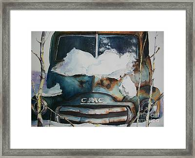 Resting And Rusting Framed Print by Carol Losinski Naylor