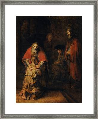Return Of The Prodigal Son Framed Print by Rembrandt van Rijn