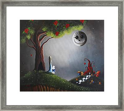 Alice In Wonderland Original Artwork Framed Print by Shawna Erback