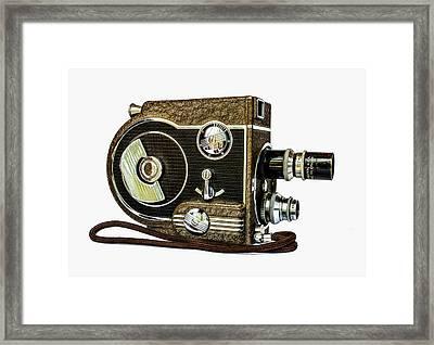 Revere 8 Movie Camera Framed Print by Jon Woodhams