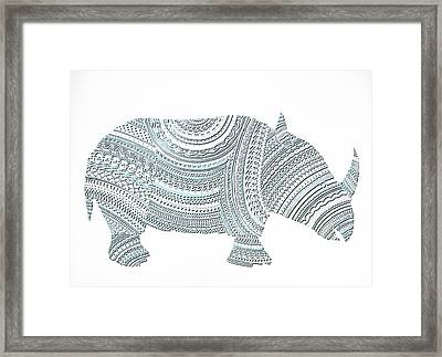 Rhinoceros Framed Print by Olga Zsuzsanna Petrovits
