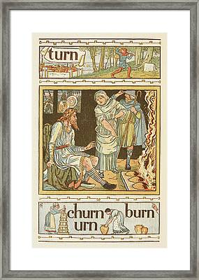 Rhyming Words Ending In The Letter N Framed Print by British Library