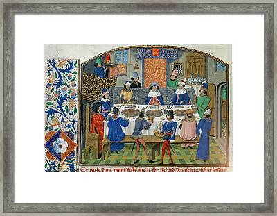 Richard II Dines With Dukes Framed Print by British Library