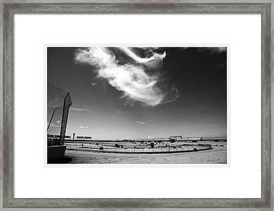 Rio Grande Speedway Santa Teresa New Mexico Framed Print by Mark Goebel