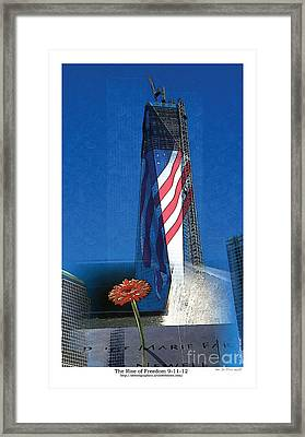 Rise Of Freedom 2012 Framed Print by Kenneth De Tore