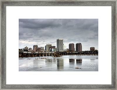 River City On The James Framed Print by Tim Wilson