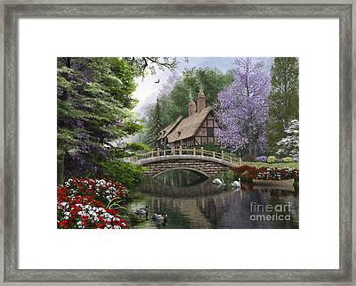 River Cottage Framed Print by Dominic Davison