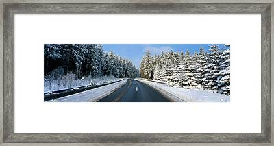 Road, Hochwald, Germany Framed Print by Panoramic Images