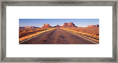 Road Monument Valley, Arizona, Usa Framed Print by Panoramic Images