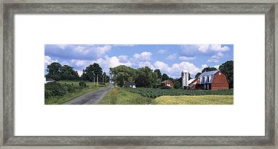 Road Passing Through A Farm, Emmons Framed Print by Panoramic Images