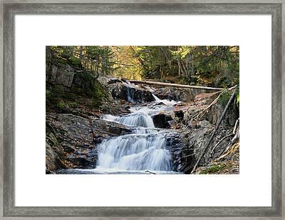 Roaring Brook Falls Framed Print by Brett Pelletier
