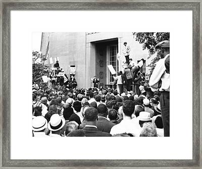 Robert Kennedy Framed Print by Underwood Archives