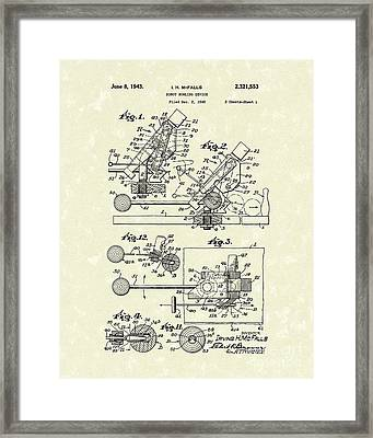 Robot Device 1943 Patent Art Framed Print by Prior Art Design