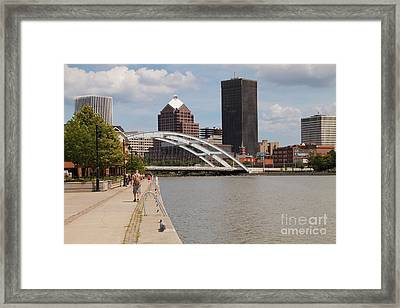 Rochester Skyline Framed Print by William Norton
