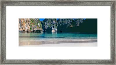 Rock Formations In The Sea, Phi Phi Framed Print by Panoramic Images