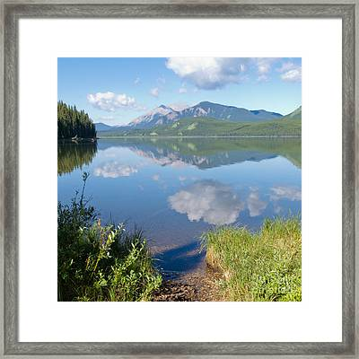 Rock Lake Alberta Canada And Willmore Wilderness Framed Print by Stephan Pietzko