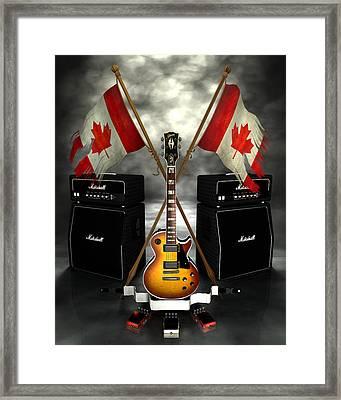 Rock N Roll Crest - Canada Framed Print by Frederico Borges