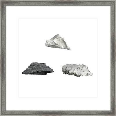 Rock Types Framed Print by Science Photo Library