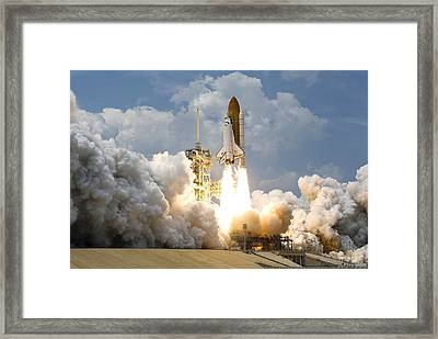 Rocket Launch Framed Print by Celestial Images